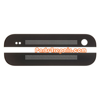 Top Cover & Bottom Cover for HTC One M7 -Black