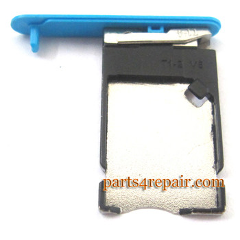 Nokia Lumia 900 SIM Tray -Blue from www.parts4repair.com