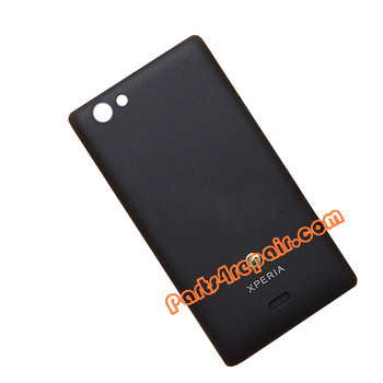 Back Cover for Sony Xperia miro ST23I -Black from www.parts4repair.com
