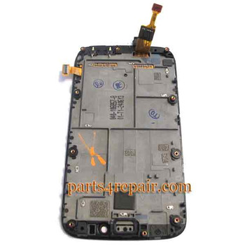 Complete Screen Assembly with Bezel for Nokia Lumia 822