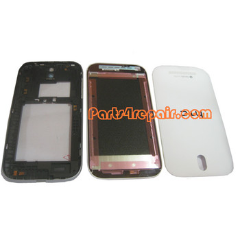 Full Housing Cover for HTC One SV -White from www.parts4repair.com