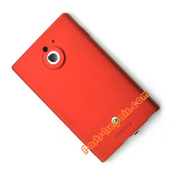 Battery Cover for Sony Xperia Sola -Red