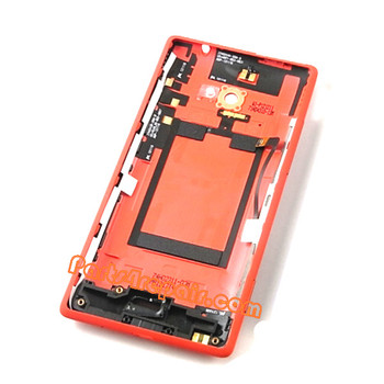 Back Cover for HTC 8X (Verizon Version)-Red