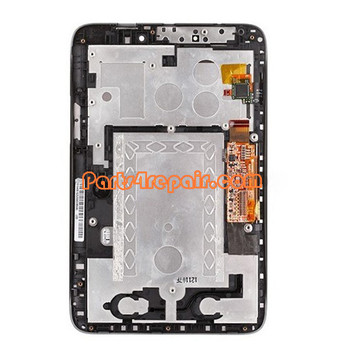 Complete Screen Assembly with Bezel for Lenovo Idea Tab A2107 -Black