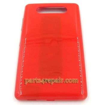 Back Cover without NFC for Nokia Lumia 820 -Red from www.parts4repair.com