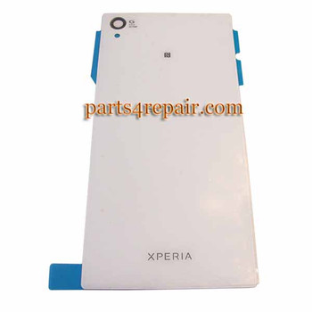 Generic Back Cover for Sony Xperia Z1 L39H -White from www.parts4repair.com
