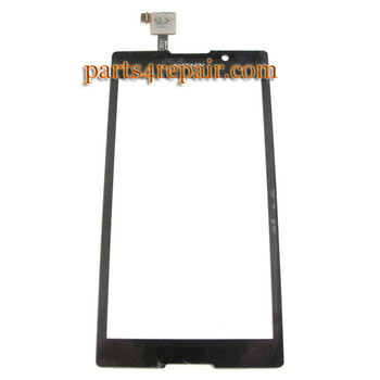 Touch Screen Digitizer for Sony Xperia C S39H -Black from www.parts4repair.com