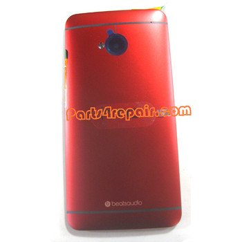 Back Cover for HTC One -Red from www.parts4repair.com