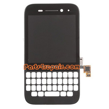 Complete Screen Assembly with Frame for BlackBerry Q5 -Black