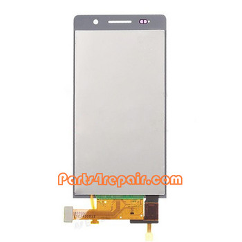 Complete Screen Assembly for Huawei Ascend P6 -White
