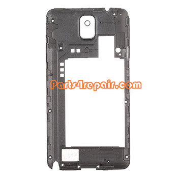 Middle Cover for Samsung Galaxy Note 3 N900F -Black from www.parts4repair.com