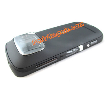 Full Housing Cover for Nokia 808 Pureview -Black from www.parts4repair.com