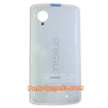 Back Cover for LG Nexus 5 D821 -White from www.parts4repair.com