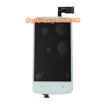 Complete Screen Assembly for HTC Desire 500 -White from www.parts4repair.com