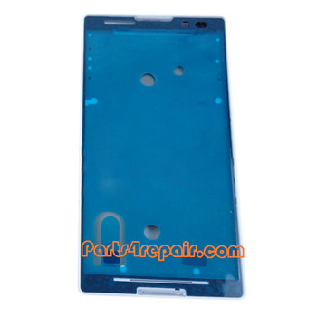Front Housing Cover for Sony Xperia C S39H -White from www.parts4repair.com