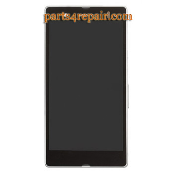 Complete Screen Assembly with Bezel for Sony Xperia Z L36H (Used) -White