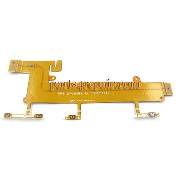 Side Key Flex Cable for Nokia Lumia 1320 from www.parts4repair.com