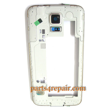 Middle Housing Cover for Samsung Galaxy S5 G900F -White