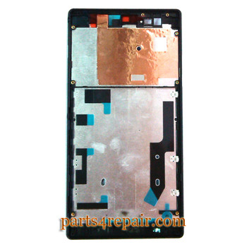 Front Housing Cover for Sony Xperia T2 Ultra -Black from www.parts4repair.com
