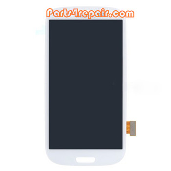 Complete Screen Assembly without Bezel OEM for Samsung I9300 Galaxy S III -White