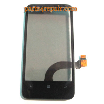 Touch Screen with Bezel OEM for Nokia Lumia 620 from www.parts4repair.com