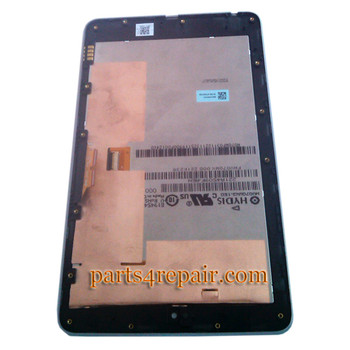 Complete Screen Assembly with Bezel for Asus Google Nexus 7 -Silver (Used)
