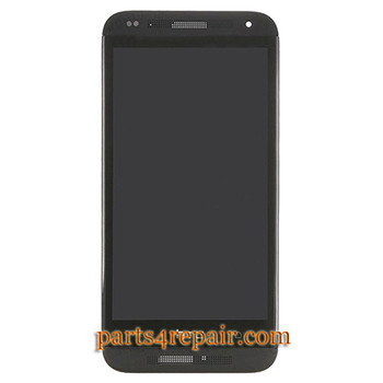 Complete Screen Assembly with Bezel for HTC Desire 601 -Black
