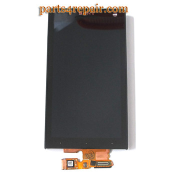 Complete Screen Assembly with Front Housing for Sony Xperia S(Used)