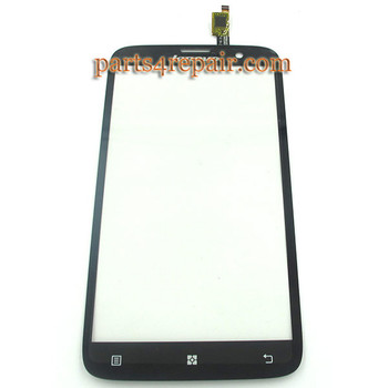 Touch Screen Digitizer for Lenovo A850 -Black from www.parts4repair.com