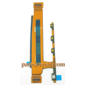 Volume Flex Cable for Sony Xperia T3 from www.parts4repair.com