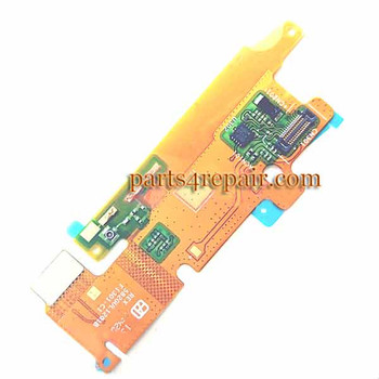 Flex Cable with Microphone for Sony Xperia T3 M50W from www.parts4repair.com