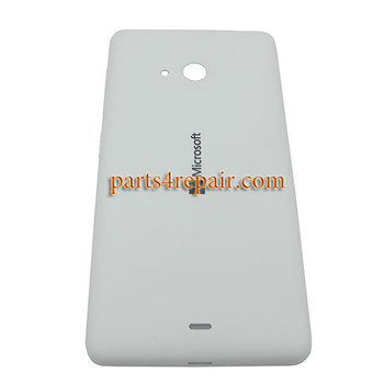 Back Cover with Side Keys for Microsoft Lumia 535 -White (Matte Surface)