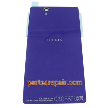 Generic Back Cover with NFC for Sony Xperia Z L36H -Purple