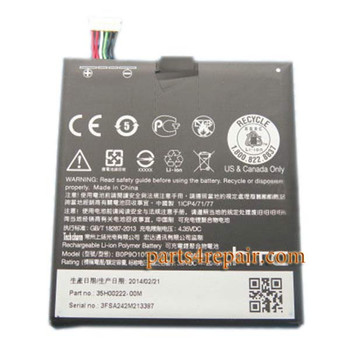 Buil-in Battery for HTC Desire 610 from www.parts4repair.com
