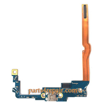 Dock Charging Flex Cable for LG G Pro 2 F350 from www.parts4repair.com