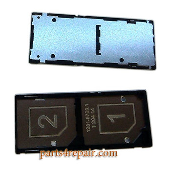 Double SIM Tray for Sony Xperia C3 from www.parts4repair.com