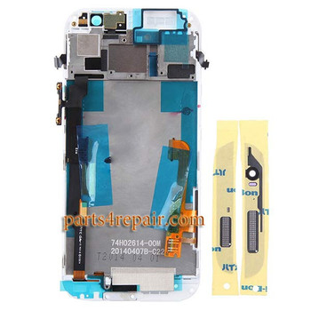 Complete Screen Assembly with Front Housing for HTC One M8 -Silver