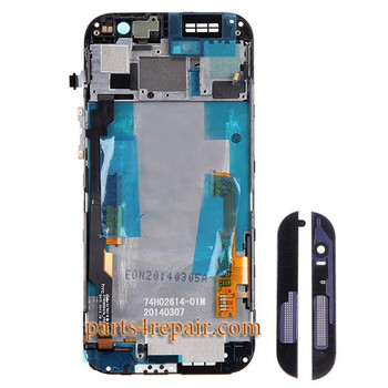 Complete Screen Assembly with Front Housing for HTC One M8 -Gray