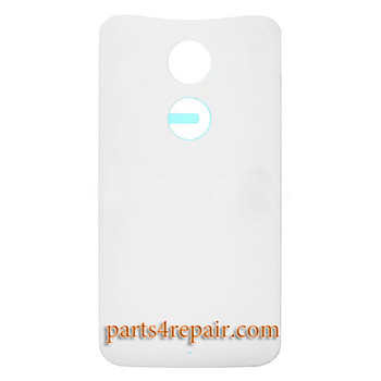 Back Cover with Adhesive for Motorola Moto X2 -White