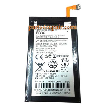 ED30 Built-in Battery for Motorola Moto G2 XT1068 from www.parts4repair.com