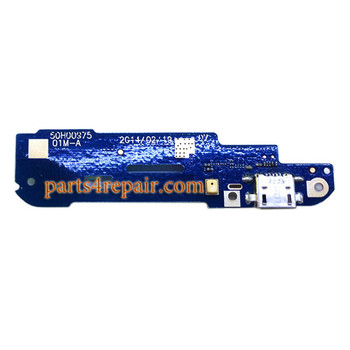 Dock Charging PCB Board for HTC Desire 610 from www.parts4repair.com