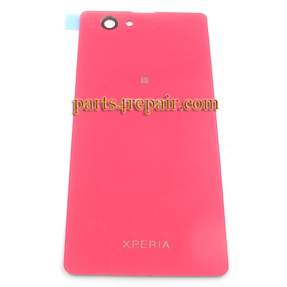 Generic Back Cover for Sony Xperia Z1 Compact mini -Pink (Glass)