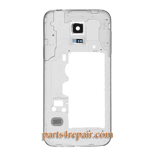 Middle Housing Cover for Samsung Galaxy S5 mini G800F -White