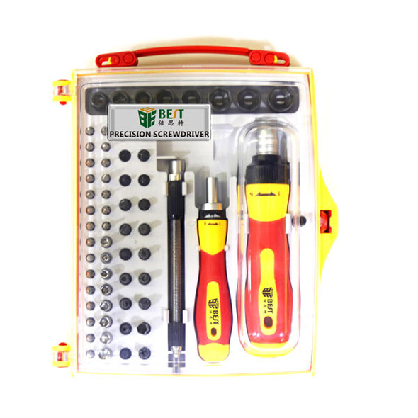 BST-2028B 62 in 1 Multi-purpose Precision Dual-Drive Ratchet Screwdriver Set with Magnetic