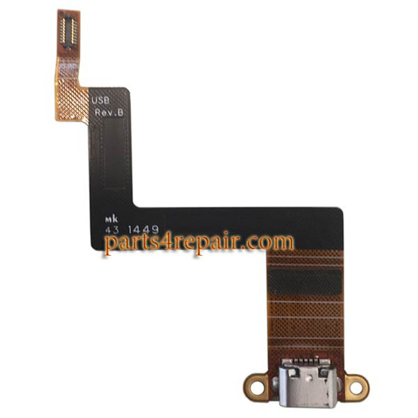 Dock Charging Flex Cable for BlackBerry Classic (BlackBerry Q20) from www.parts4repair.com