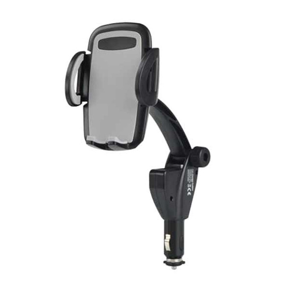 Dual USB Car Charger Mount Holder for Cellphone GPS Device in Width 45-95mm