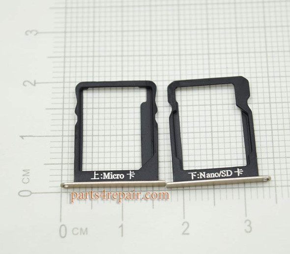 Micro SIM Tray & Nano/SD Card Tray for Huawei Ascend Mate 7 MT7-T10 -Gold