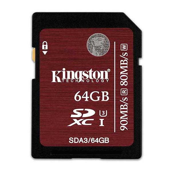 Kingston 64GB SDXC 90MB/S Read 80MB/S Write UHS-I Flash Card