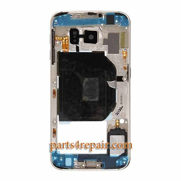 Middle Housing Cover for Samsung Galaxy S6 G920I -Gold