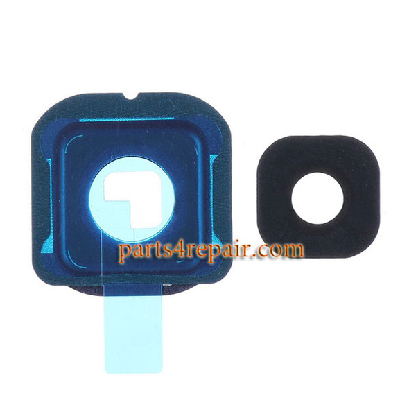 Camera Cover and Lens with Adhesive for Samsung Galaxy S6 Edge